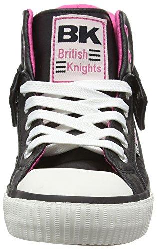 British Knights Roco, Sneakers basses femme noir (Black-Fuchisa 02)