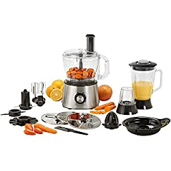 Robot de cuisine 15-in-1 Princess 220140 - Ensemble complet - Acier inoxydable