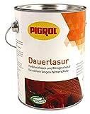 Pigrol Dauerlasur 2,5L kastanie 2in1 Wetterschutzlasur für alle Hölzer im Außenbereich