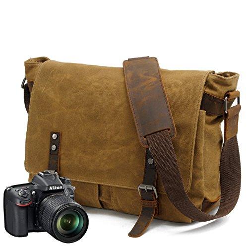 Neue, Retro, Weise, Handtasche Outdoor Plane der Kamera, Handtasche, Tasche, wasserdicht, B0107 (Leather Notebook Case Targus)