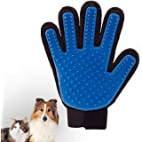 Pet cepillo guante aseo deShedding guante para suave y eficiente Pet Grooming (1 pcs)