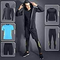 Men Comfortable Stylish Sports Clothing Set 5 Pieces Quick-drying Breathable Warm Can be Worn Throughout the Year