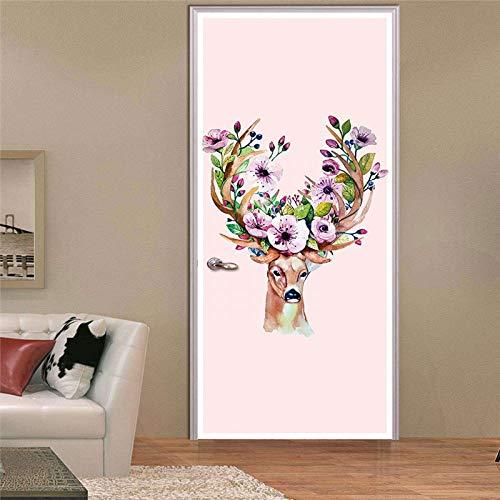 YSFU Wandsticker Türaufkleber 3D Tür Aufkleber Wandbild Kunst Wand Poster Cartoon Tier Abnehmbare Zimmer DIY Tapete Aufkleber Home Tor Decor (Home Decor Tor)