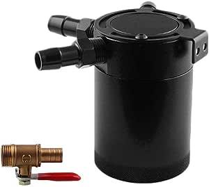 Rainai Aluminium Oil Catch Can Auto Reservoir Tank Universal Air Oil Seperator Öl Auffangbehälter Oil Catch Tank Ölablassgerät Ölwanne Mit Sonstiges Zubehör Auto