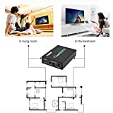 HDMI zu Composite AV + S-Video Konverter Umschalter Adapter Full HD 1080P (Farbe: Schwarz)