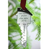 Personalised Christmas Tree Decoration - Xmas Bauble Engraved Gift - First Christmas in OUR New Home