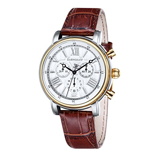 Thomas Earnshaw ES-0016-05 Longcase 43 Men s Quartz Watch with White Dial  Analogue 4dcfaa5ea365