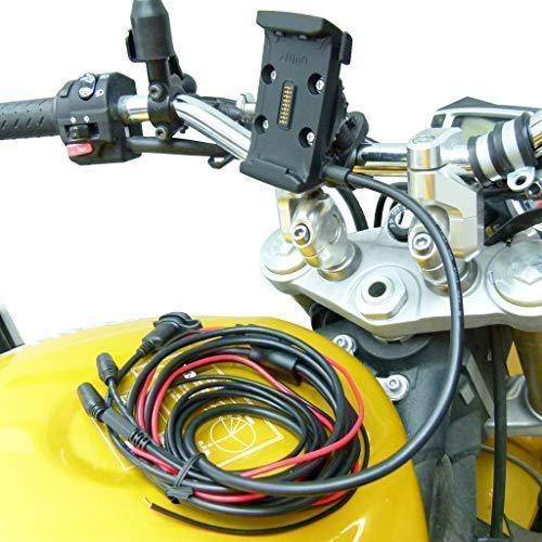 Buybits Cablaggio Cavo Alimentazione Supporto Manubrio per Bici Moto per Garmin Zumo 590 595