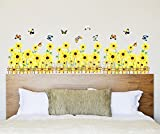 UberLyfe Yellow Sunflowers Border Wall Sticker Size 3 (Wall Covering Area: 50cm x 105cm) - WS-001371
