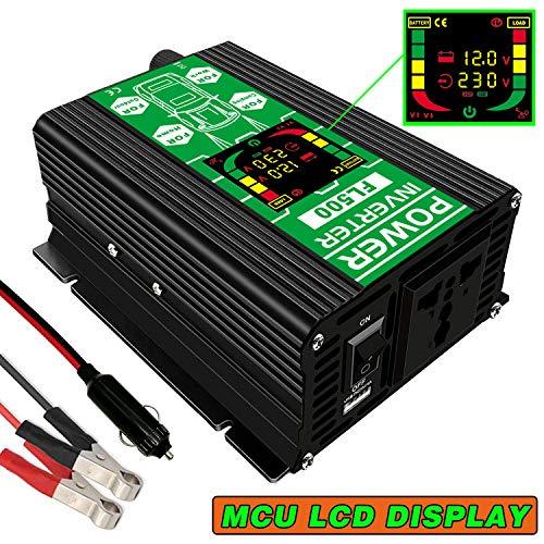 Spannungswandler 12V auf 230V 500W Wechselrichter 12V auf 230V 500W Auto wechselrichter mit LCD-Display