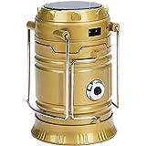 AVMART Solar Emergency Light Lantern, USB Mobile Charging Point, Rechargeable Night Light Travel Camping Lantern (Gold)