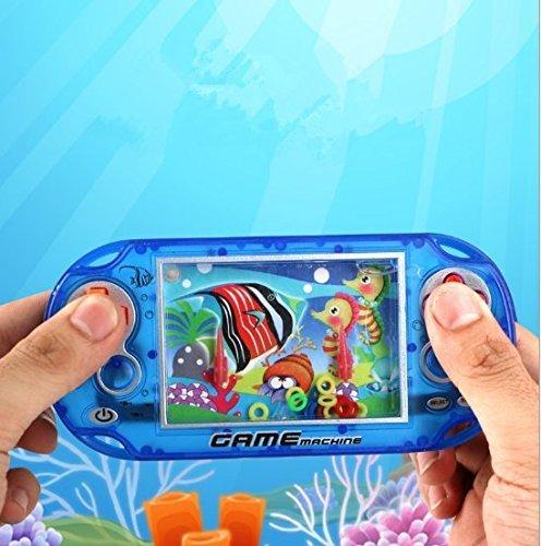 er Wasserring Konsole Kinder Spielzeug Wasser Ring Für Kinder Spielen Ring Entwicklung Intellektuellen Spiel Handheld Farbe Zufällig (Hand-held-wasser-spiel)