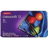 Derwent Coloursoft Colouring Pencils Tin - Set of 72