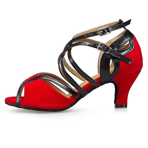 Minitoo ,  Damen Jazz, modern , Rot – Red-6cm Heel – Größe: 40 - 2