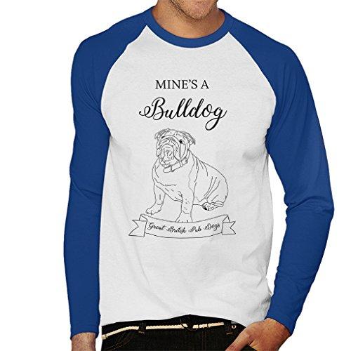 Great British Pub Dogs Mines A Bulldog Men's Baseball Long Sleeved T-Shirt