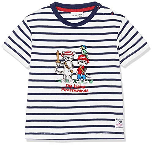 SALT AND PEPPER Baby-Jungen T-Shirt B Pirat Stripe Bande, Blau (Classic Blue 486), ()
