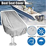 Essort Boat Seat Cover, Funda para Asiento Piloto, Folding Pedestal Boat Chair Cover, Waterproof Pontoon Captain Seat Chair Cover, poliéster UV Resistant, Grey, 56× 61× 64cm