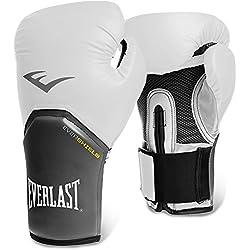 Everlast Pro Style Elite - Guantes de boxeo para entrenamiento, color blanco