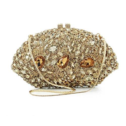 Frauen Abendbeutel Luxus Diamanten Mode Kupplung Hochwertig Handtasche OneColor