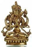 BUDDHAFIGUREN Estatua de Buda Chenrezig - Protector del Tíbet - Latón 14 cm