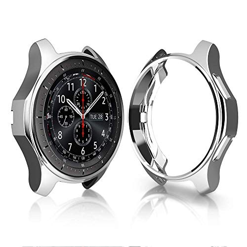KTcos Estuche para Samsung Gear S3 Frontier SM-R760, Soft TPU Plateado [Scratch-Proof] Allround Protector de Parachoques Shell para Samsung Gear S3 Frontier SM-R760 Smartwatch (Silver)