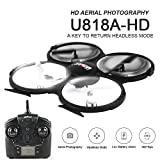 UDI U818A-HD 2.4GHz 4 CH 6 AXIS Headless RC Quadcopter with HD Camer With Return Home Function