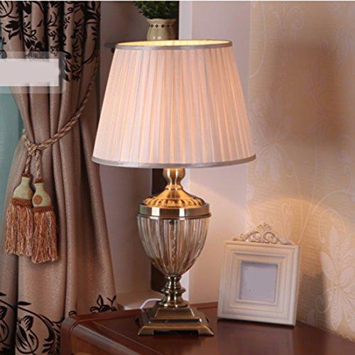 CJSHV-Tischlampe Große Amerikanische Europäischen Stil Der Alten Wohnzimmer Schlafzimmer Mit Lampe Glas Lampe - Europäischen Stil Wohnzimmer