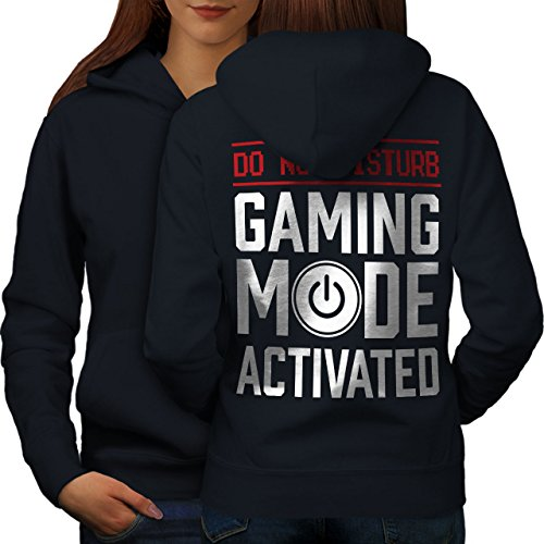 Gaming Modus Auf Frau M Kapuzenpullover Zurück | Wellcoda