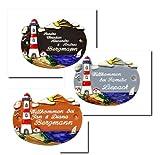 Keramik Türschild 21x16 cm Keramikschild inklusive Wunschgravur, auch als Klingelschild lieferbar