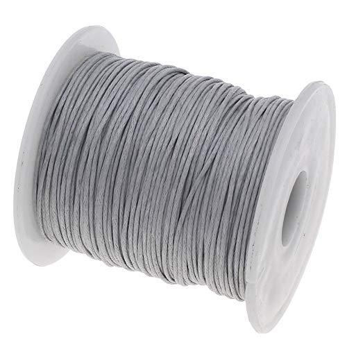 My-Bead Waxschnur Baumwollschnur gewachst 1mm 90m Silber grau Top Qualität Schmuckherstellung basteln DIY -