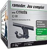 Rameder Attelage rotule démontable pour CITROËN C3 III + Faisceau 13 Broches...