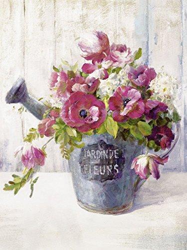 Artland Kunstdruck I Poster Danhui Nai Gartenblumen II Botanik Blumen Malerei Pink/Rosa B2OO