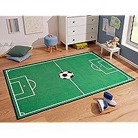 Zala Living Campo de Fútbol Parte Alfombra, Poliamida, Verde, 200x 290x 0,8cm