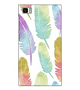 Fuson Designer Back Case Cover for Xiaomi Mi3 :: Xiaomi Mi 3 (The Feather pattern )