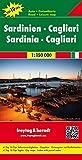 Sardinien - Cagliari, Autokarte 1:150.000, Top 10 Tips, freytag & berndt Auto + Freizeitkarten