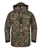 Southplay Herren Camouflage mit Kapuze wasserdichte Winter Snowboard-Militärgrün (Large)