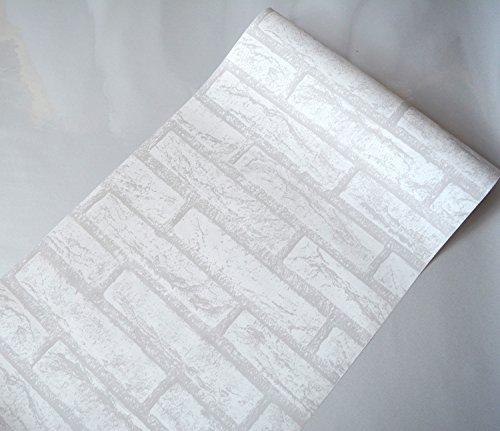 ALLDOLWEGE Kreative Schlafzimmer Schlafzimmer Wandaufkleber College-Schlafsaal Wanddekorationen Poster Wand Papier selbstklebende Malerei retro weißen Ziegel (Malerei Ziegel)