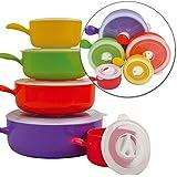 Parte superior Home Solutions 10pc de microondas alimentos cocinar cuencos con tapa Pot Pan contenedores
