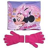 Minnie Mouse Snood Schal und Handschuhe Mädchen (Fuchsia, 3-7 Jahre)