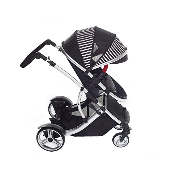 Duellette 21 BS Twin Double Pushchair Stroller Buggy Brand New Colour Range! (Oxford stripe plain bumpers) Kids Kargo Demo video please see link http://youtu.be/Ngj0yD3TMSM Various seat positions. Both seats can face mum (ideal for twins) Suitability Newborn Twins (if used with car seats) or Newborn/toddler. Accommodates 1 or 2 car seats 3