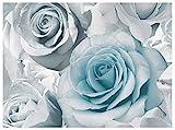 Muriva Papier peint Motif rose Bleu