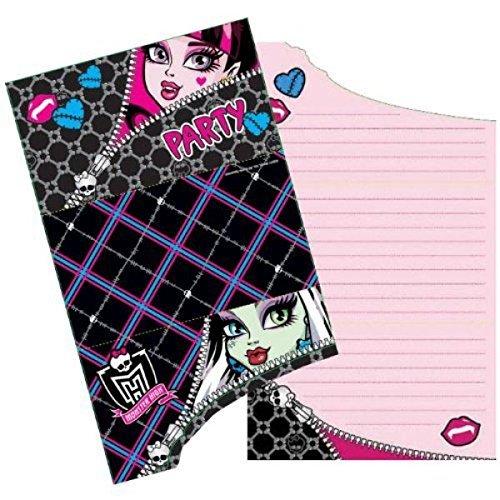 Amscan Halloween Einladungskarten von Monster High (High Halloween-party-ideen Monster)