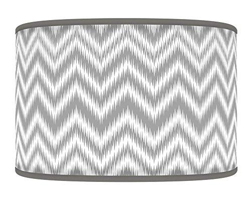 chevron-light-grey-silver-retro-handmade-geometric-giclee-style-printed-fabric-lamp-drum-lampshade-f