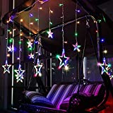 Citra LED Curtain String Lights with 12 Stars and 138 Pieces and 8 Modes Lights (Multicolor)