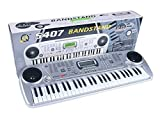 #3: Toykart Brandstand Electronic Keyboard 54 Key Musical Piano With Microphone, Adapter, Dual Stereo speaker, Audio output and Digital display[Original]