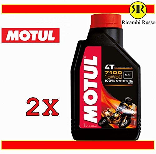 Motul 7100 15w50 olio motore moto 4 tempi litri 2