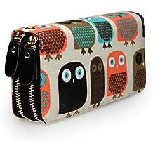 2bb5ef5959036 Très Chic Mailanda Geldtasche Geldbeutel Tasche Portemonnaie umlaufende  Reißverschlüsse mit Design groß ...