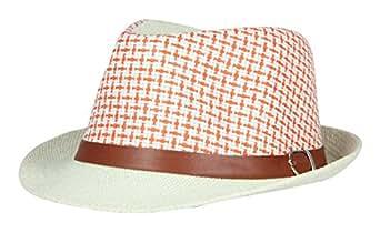 FabSeasons Orange Casual Fedora Hats