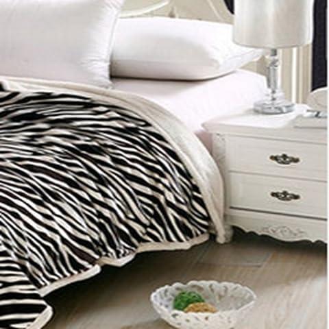 BDUK Mantas de lana polar 4 trimestre Manta Coral aire acondicionado y litera individual sábanas gruesas mantas Sofa Frazada