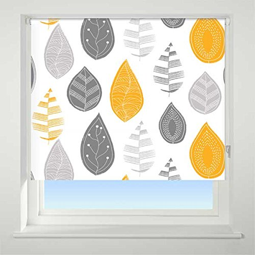 universal-leaf-patterned-thermal-blackout-roller-blind-yellow-w90cm